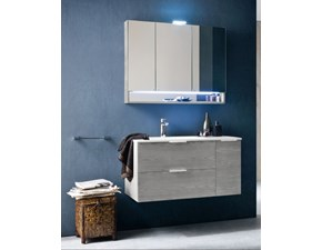 Mobile bagno sospeso Compab con specchiera contenitore in offerta