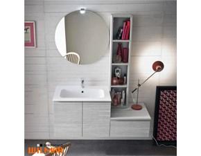Mobile arredo bagno Sospeso Compab Mobile con specchiera rotonda in offerta