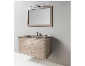 Mobile arredo bagno Sospeso Euro bagno Frassino tortora con sconto