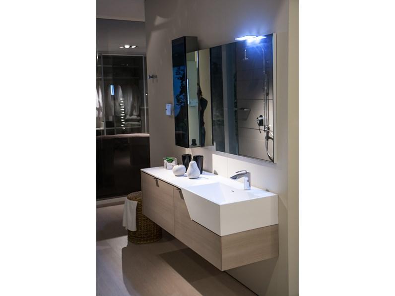 Mobile arredo bagno sospeso milldue mod pivot milltek a for Prezzo mobile bagno