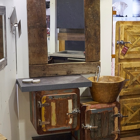 Mobile bagno 2 sportelli vintage ghiacciaia prezzo offerta arredo bagno a prezzi scontati - Arredo bagno vintage ...