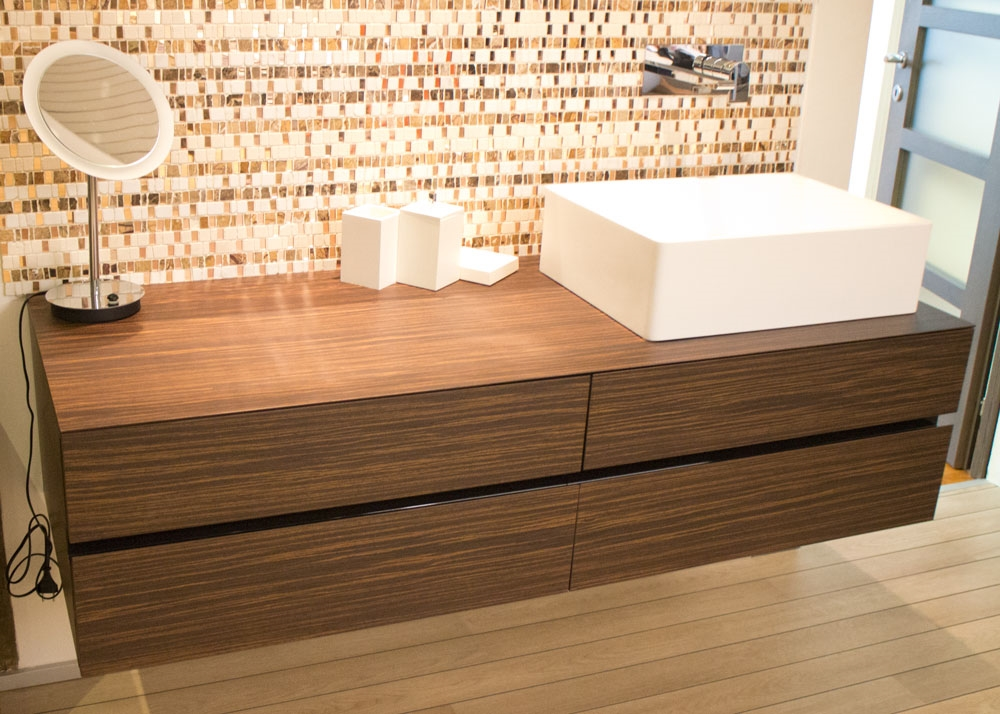 Mobile bagno 4 cassetti in palissandro santos by milldue - Milldue arredo bagno ...