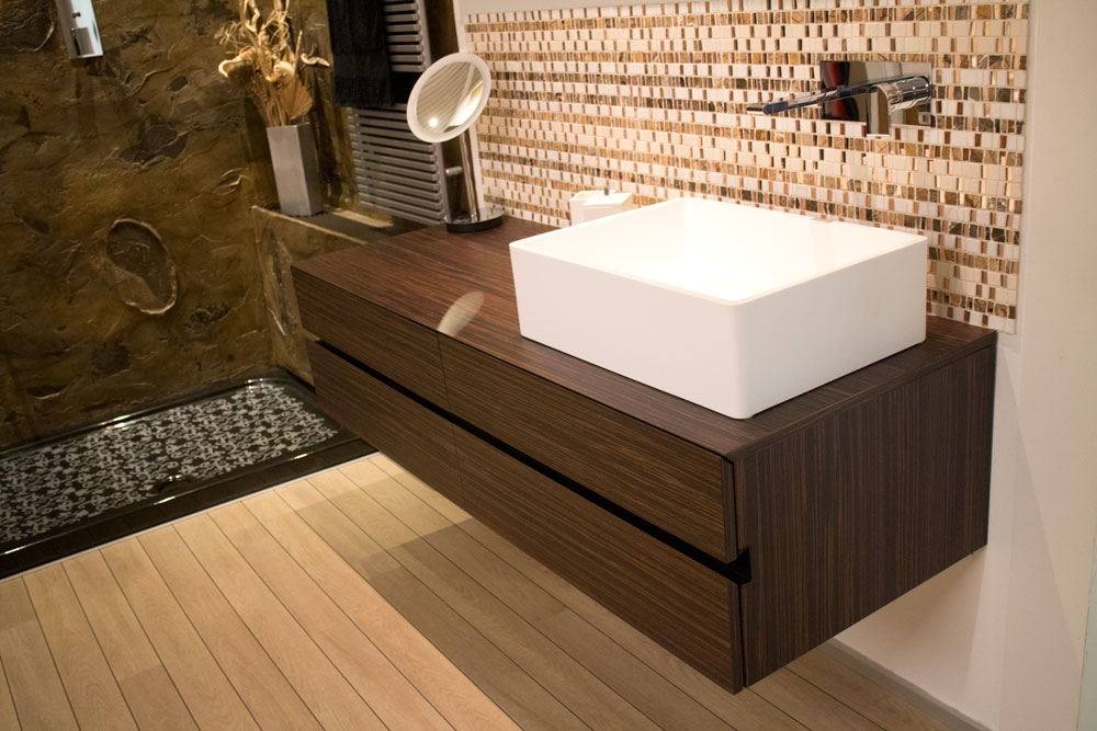 Mobile bagno 4 cassetti in palissandro santos by milldue for Arredo bagno lidl
