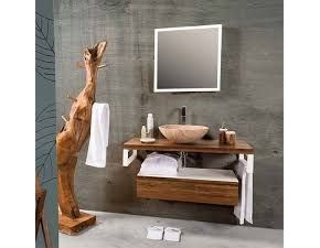 Mobile bagno A&c Teak&white IN OFFERTA OUTLET