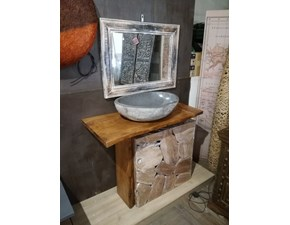 Mobile bagno A terra Bagno root in legno minimal Outlet etnico a prezzi convenienti