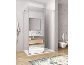 Mobile bagno A terra Doccia ante scorrevoli 80x140 a specchio con piatto doccia antracite Euro bagno a prezzo ribassato