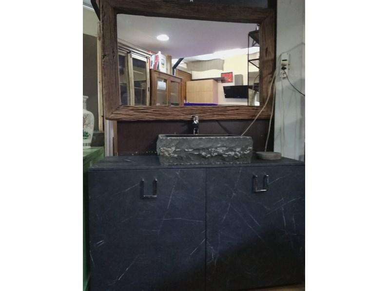 Mobile bagno a terra minimal zen black outlet etnico con for Arredo bagno black friday
