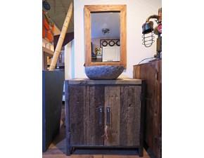 Mobile bagno A terra Mobile bagno con lavabo pietra in offerta  Outlet etnico a prezzo ribassato