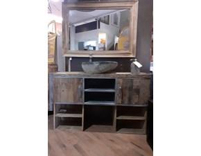 Mobile bagno A terra Mobile bagno oakland in legno e ferro in offerta   Nuovi mondi cucine a prezzi outlet