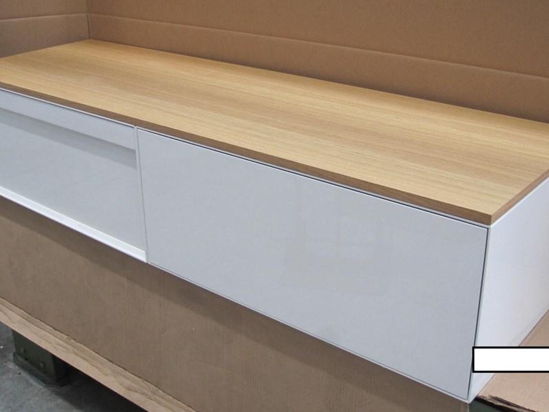 Mobile bagno Arlex Class bianco lucido + top rovere naturale con un ...