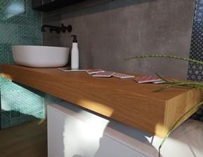 Mobile bagno Artigianale Mensola massello con lavabo monolith con uno sconto imperdibile