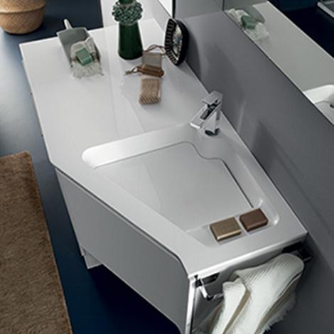 Mobile bagno attrezzato a lavanderia by rab arredobagno - Preventivo bagno nuovo ...