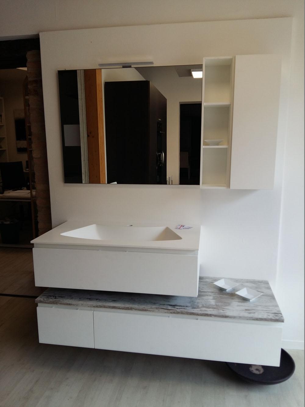 Mobile bagno bianco arteba scontato del 52 arredo bagno for Mobile bagno moderno bianco