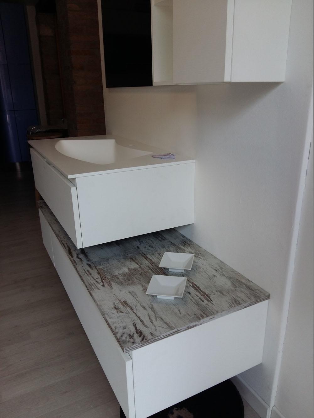 Mobile bagno bianco arteba scontato del 52 arredo bagno for Arredo bagno bianco