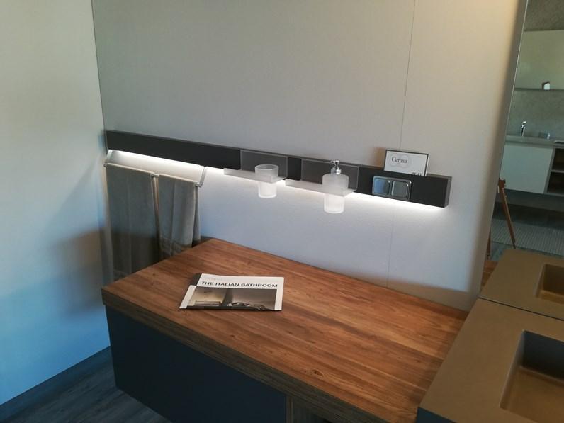 Mobile bagno cerasa play con lavabo in ecomalta integrato nel top - Lavello bagno con mobile ...