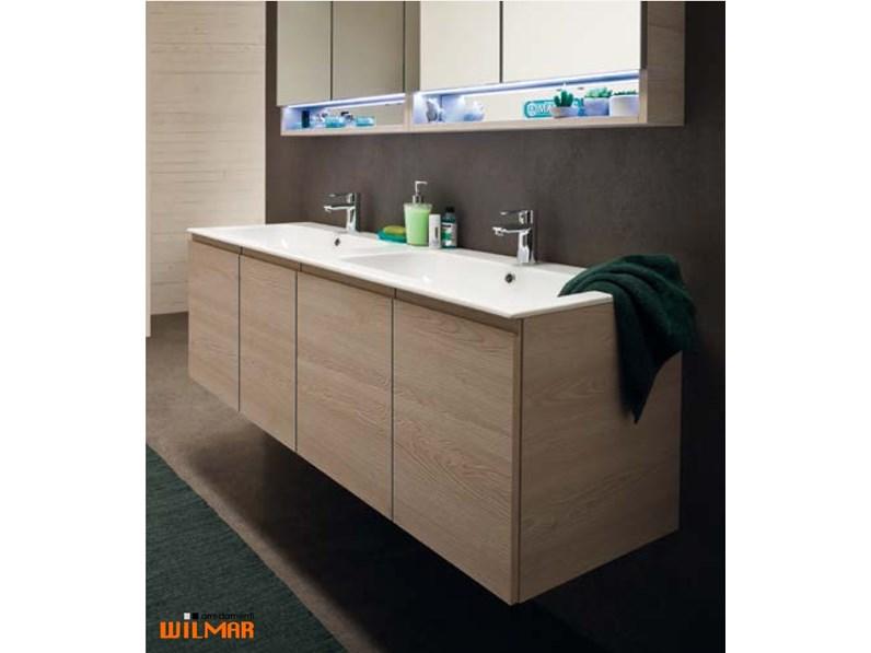 Mobile bagno Compab Composizione con doppio lavabo IN OFFERTA OUTLET