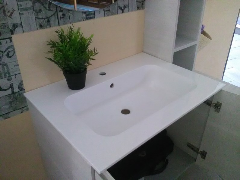 Mobile bagno compab con specchio tondo prezzo outlet - Prezzo mobile bagno ...