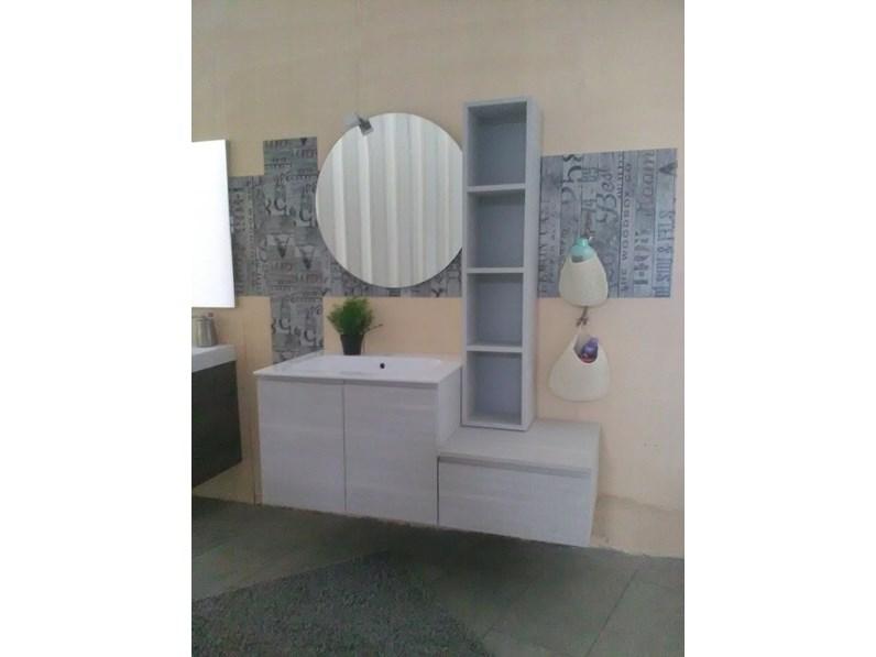 Mobile bagno compab con specchio tondo prezzo outlet for Specchio tondo bagno