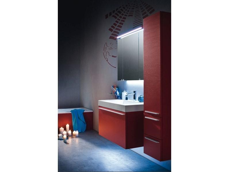 Mobile bagno compab moderno sospeso con specchiera contenitore a prezzo scontato 35 - Mobile bagno profondita 35 ...