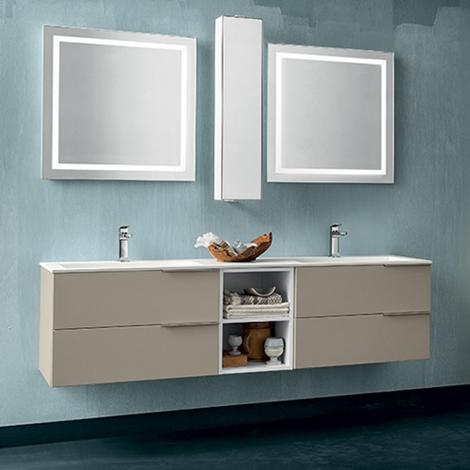 Mobile bagno con doppia specchiera by rab arredobagno nuovo scontato arredo bagno a prezzi - Bagno con sale ...