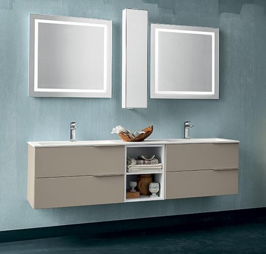 Mobile bagno con doppia specchiera by rab arredobagno - Rab arredo bagno ...