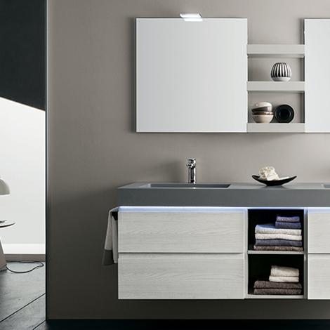 Mobile bagno con doppio lavabo by rab arredobagno nuovo - Bagno nuovo prezzi ...