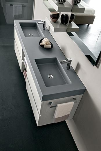 mobile bagno con doppio lavabo, by rab arredobagno, nuovo a prezzo ... - Arredo Bagno Doppio Lavabo Prezzi