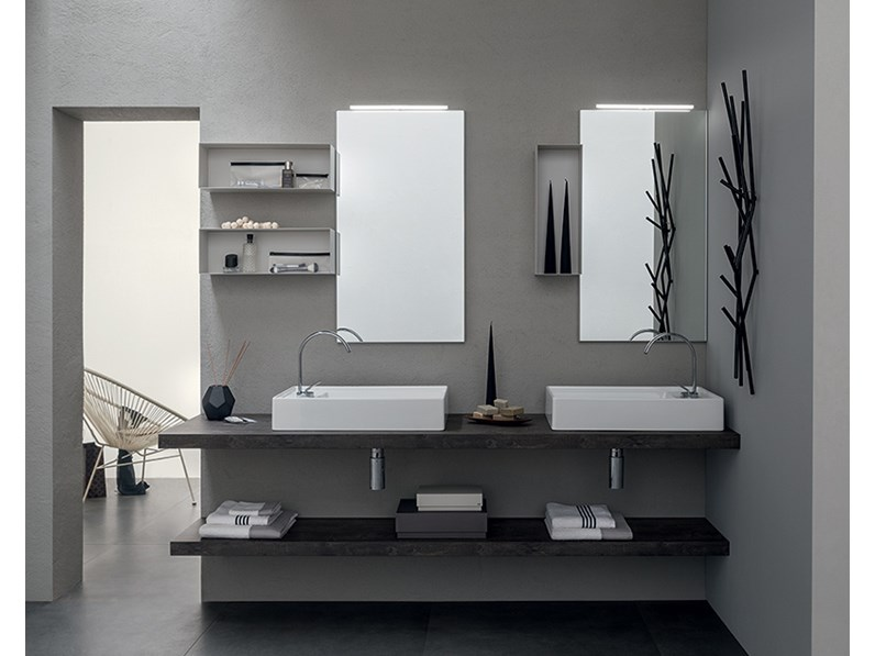 Mobile bagno con doppio lavabo da appoggio by rab arredobagno nuovo scontato - Mobile bagno con doppio lavabo ...