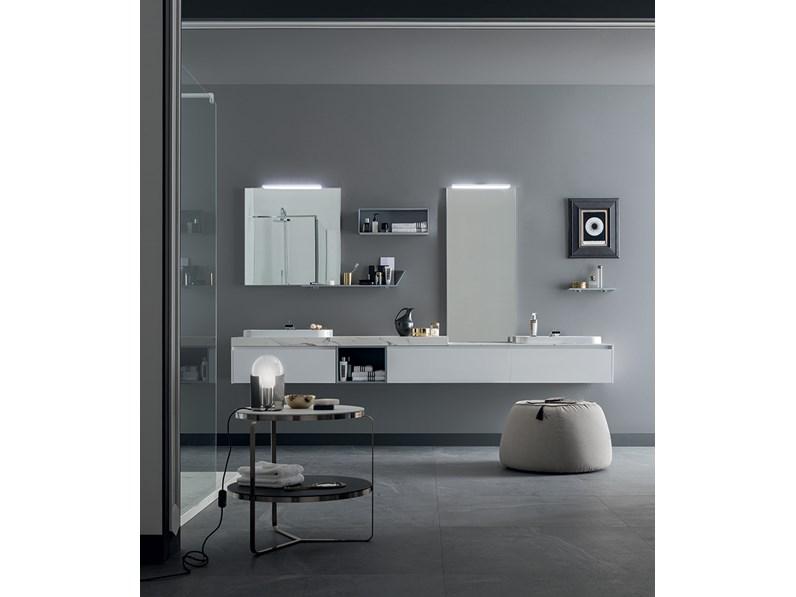 Mobile bagno con doppio lavabo design rab arredobagno - Bagno con doppio lavello ...