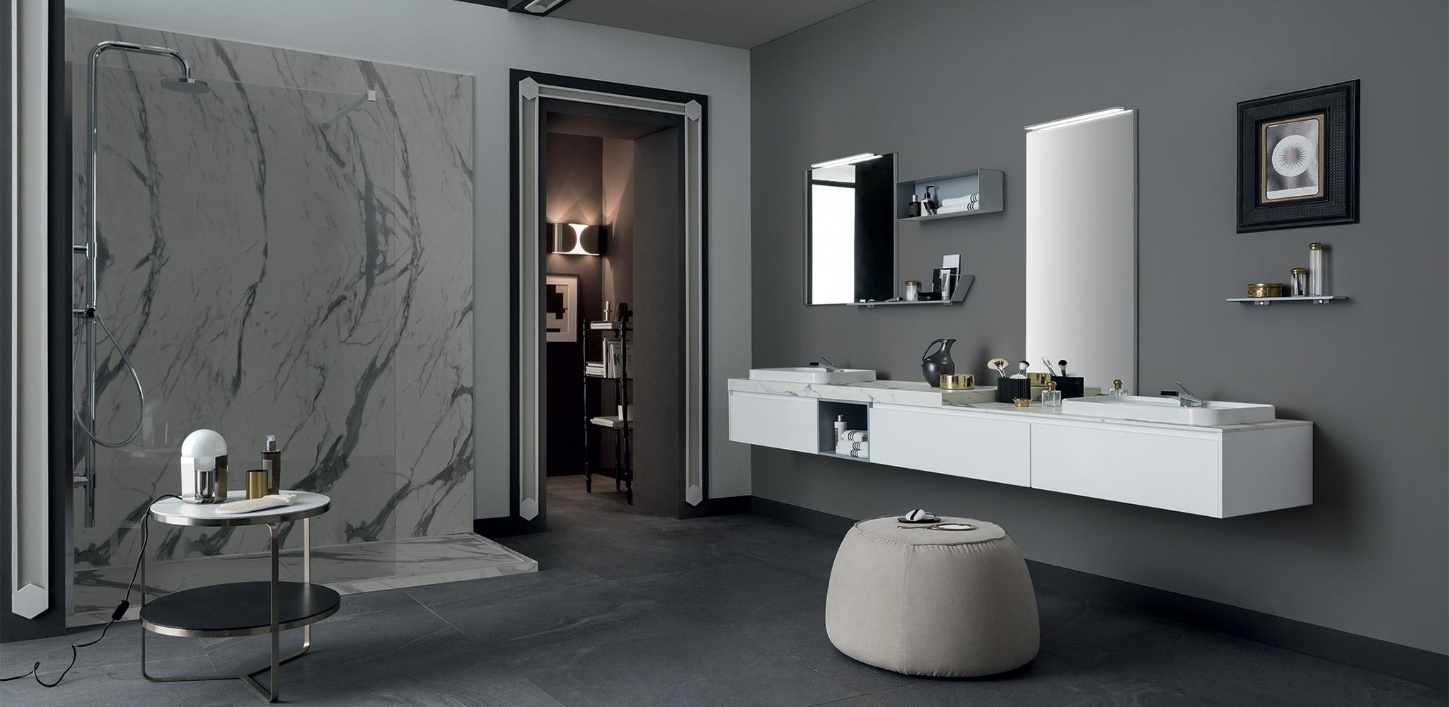 Mobile bagno con doppio lavabo design rab arredobagno - Mobile bagno con doppio lavabo ...
