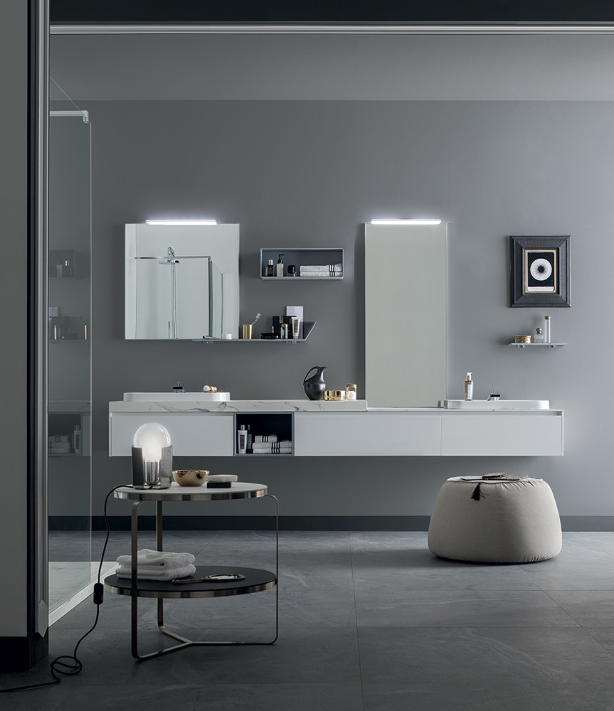 Mobile bagno con doppio lavabo design rab arredobagno - Bagno nuovo prezzi ...