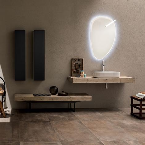 Mobile bagno con doppio mensolone by rab arredobagno - Rab arredo bagno ...