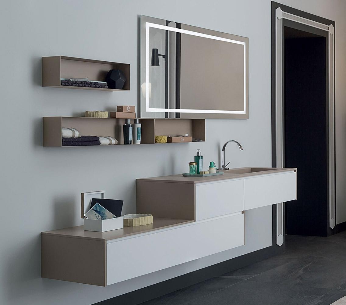 Mobile bagno con specchio con serigrafia retroilluminata - Bagno nuovo prezzi ...