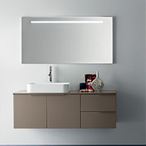 Mobile bagno con lavabo ad appoggio by rab arredobagno for Mobile lavabo appoggio