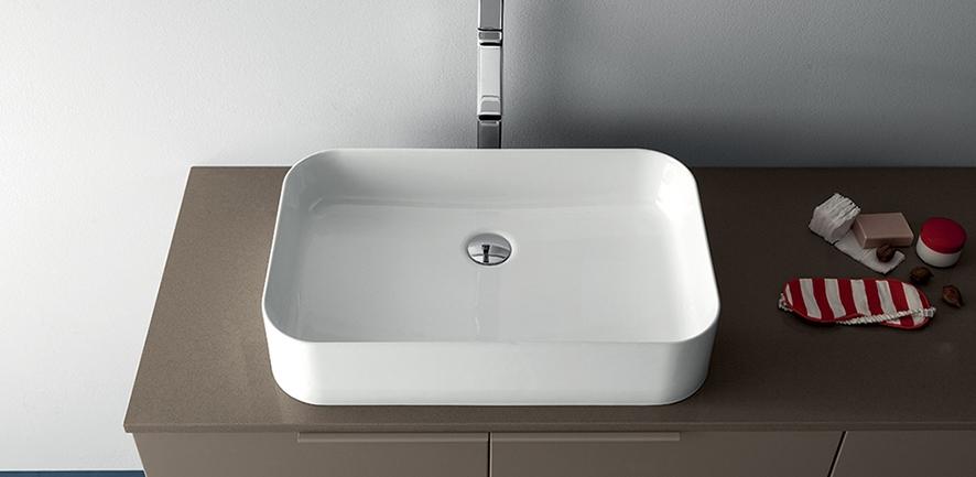 Mobile bagno con lavabo ad appoggio by rab arredobagno nuovo a prezzo scontato arredo bagno - Lavabo bagno prezzi ...