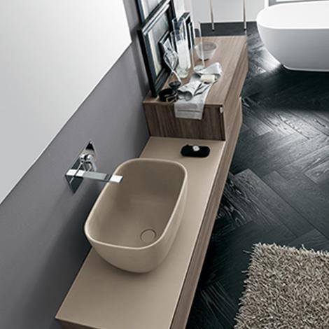 Mobile bagno con lavabo ad appoggio by rab arredobagno - Bagno nuovo prezzi ...
