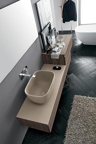 Mobile bagno con lavabo ad appoggio by rab arredobagno for Nuovo arredo sansepolcro