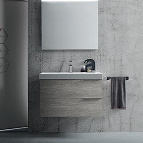 Mobile bagno con lavabo in ceramica by rab arredobagno for Prezzi lavabo bagno con mobile