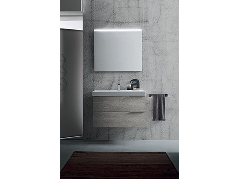 Mobile bagno con lavabo in ceramica, by RAB arredobagno, nuovo scontato