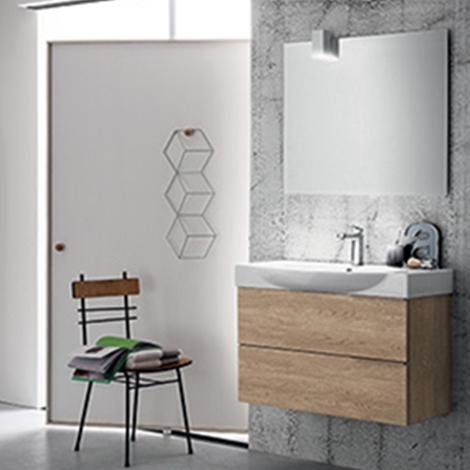 Mobile bagno con lavabo in ceramica integrato by rab - Rab arredo bagno ...