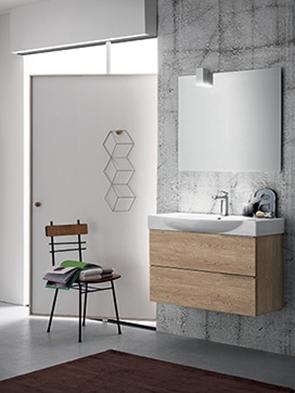 Mobile bagno con lavabo in ceramica integrato by rab for Ceramica arredo bagno