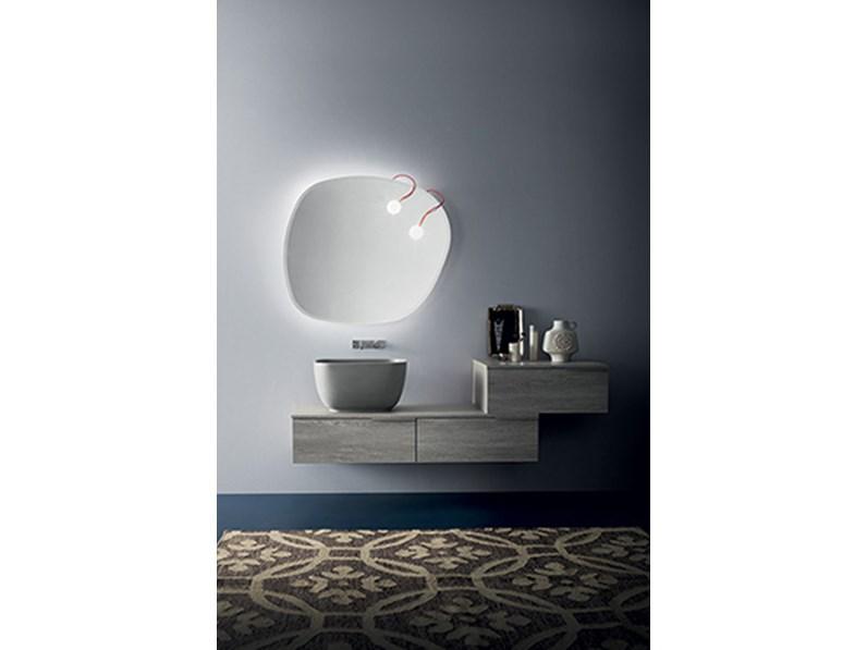 Mobile bagno con lavabo in tecnoril, by RAB arredobagno, nuovo scontato