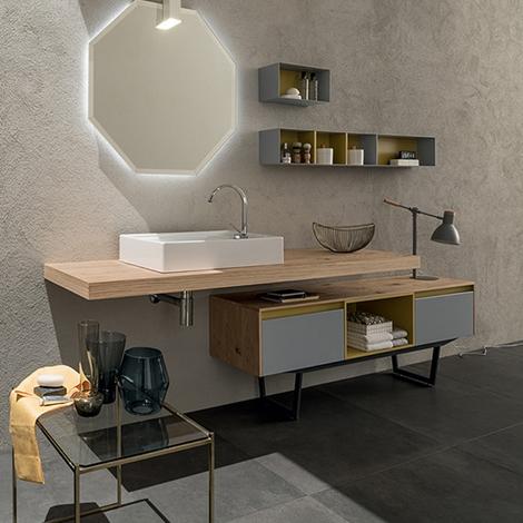 Mobile bagno con mensolone e mobile da appoggio by rab for Nuovo arredo sansepolcro