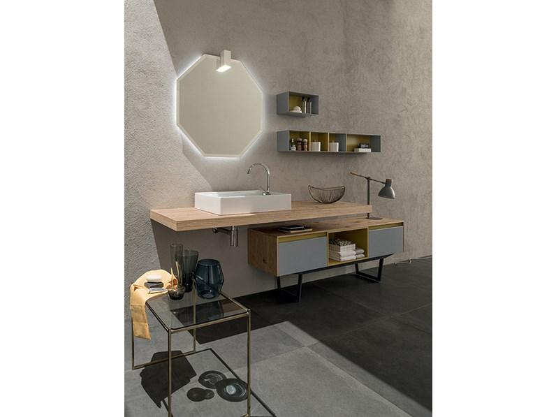 Mobile bagno con mensolone e mobile da appoggio, by RAB arredobagno ...