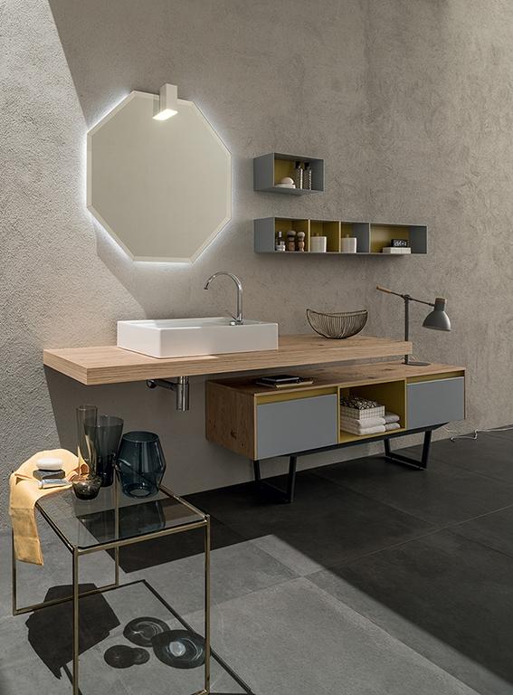 Mobile bagno con mensolone e mobile da appoggio by rab arredobagno nuovo scontato arredo - Mobile bagno da appoggio ...