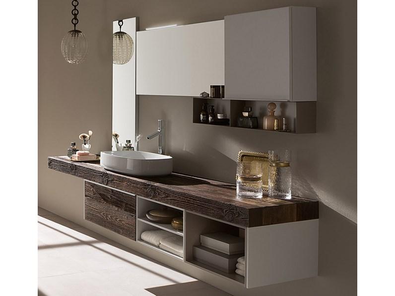 Mobile bagno con mensolone in abete, by RAB arredobagno, nuovo, scontato