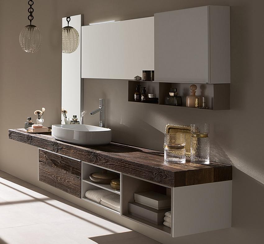 Mobile bagno con mensolone in abete by rab arredobagno - Rab arredo bagno ...