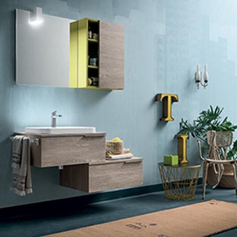 Mobile bagno con pensile e vano giorno by rab arredobagno - Mobile bagno lago prezzo ...