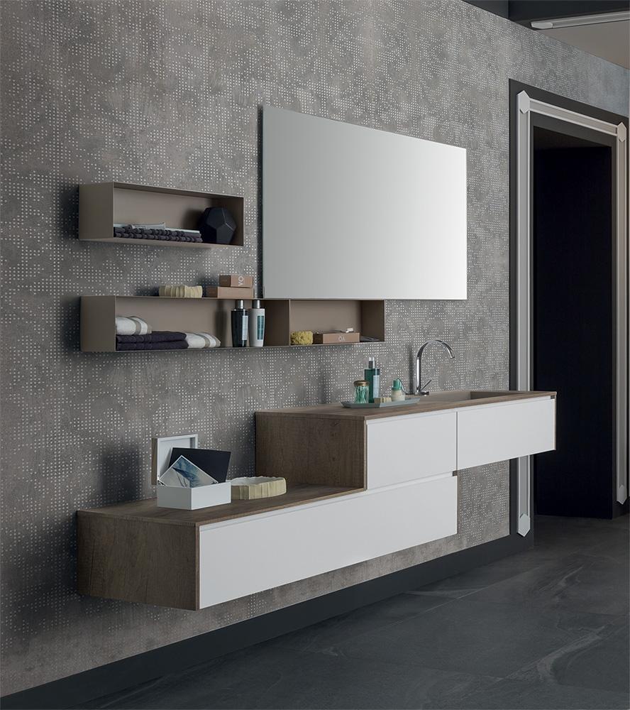 Mobile bagno con pensili a giorno by rab arredobagno for Nuovo arredo camerette prezzi