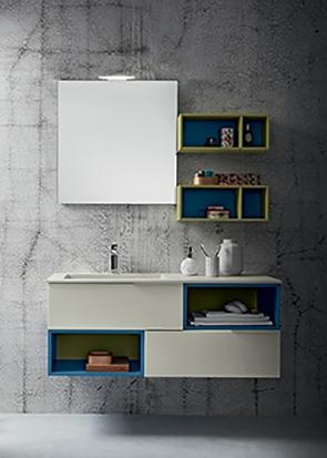 Mobile bagno con pensili a giorno by rab arredobagno for Nuovo arredo sansepolcro